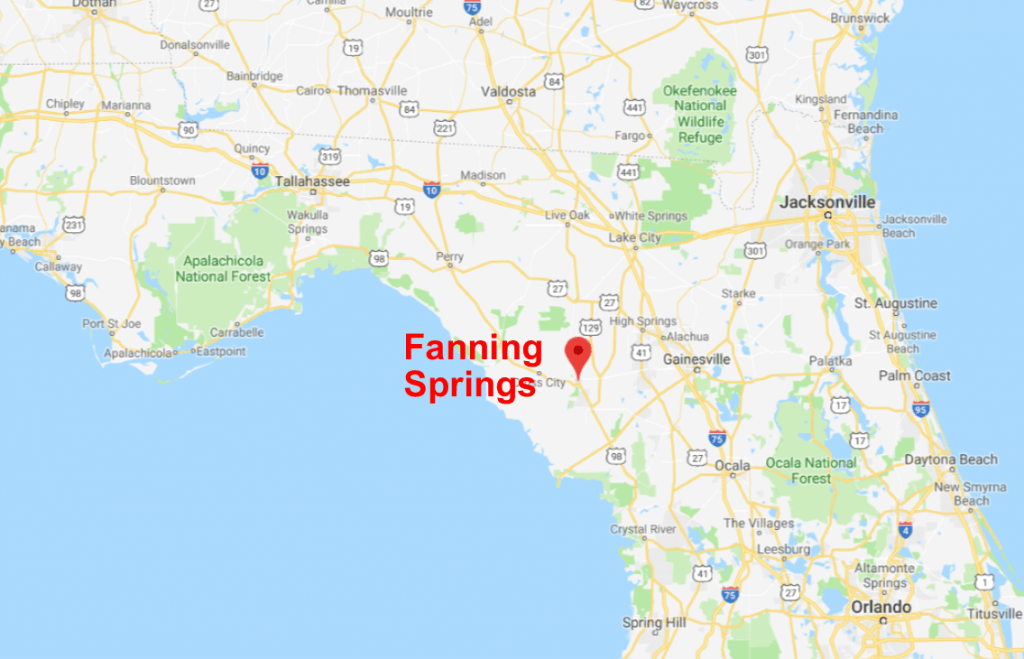 Fanning Springs Map