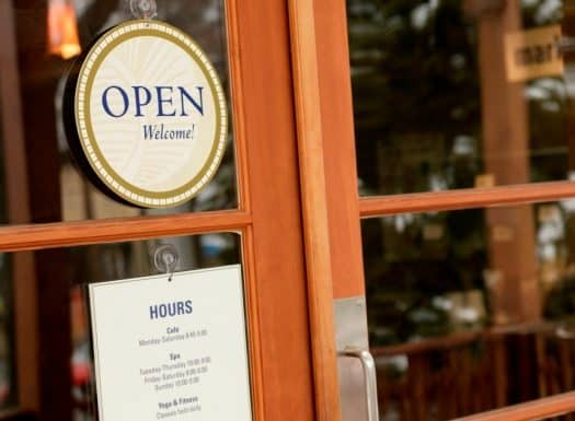 Front doors to small business