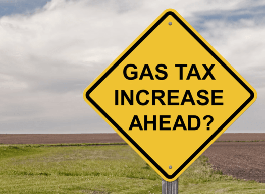 gas tax increase ahead 525x420