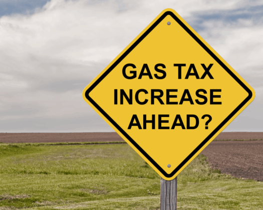 gas tax increase ahead 525x420