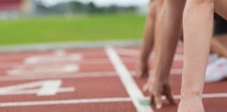 athletes on track preparing to run_canstockphoto17669514 525x420